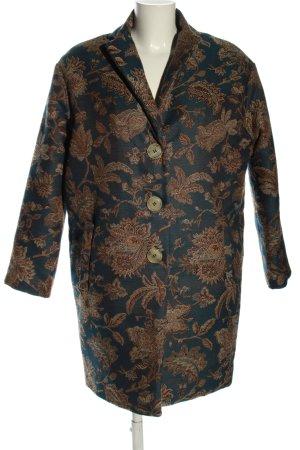 Mason's Cappotto corto blu-bronzo stampa integrale stile professionale