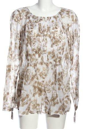 Mason's Langarm-Bluse weiß-braun Allover-Druck Business-Look