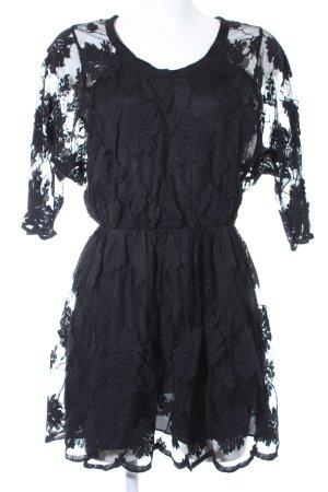 Mason Spitzenkleid schwarz Vintage-Look