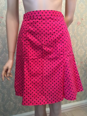 Plaid Skirt black-pink