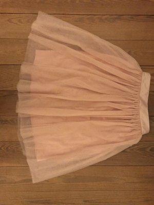 Tiulowa spódnica w kolorze różowego złota