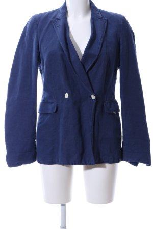 Massimo Alba Long-Blazer blau Business-Look