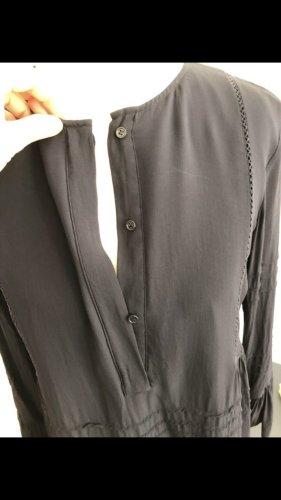 Massimo Dutti Vestido tipo blusón azul oscuro