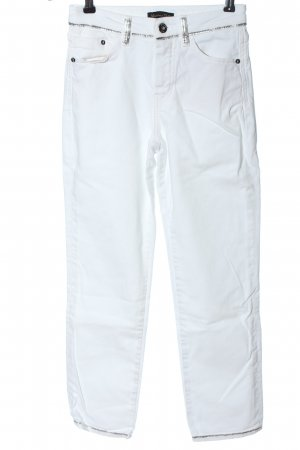 Massimo Dutti 7/8 Length Trousers white casual look