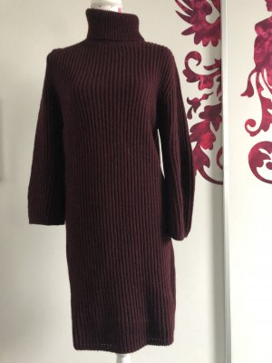 Massimo Dutti Vestido tipo jersey burdeos