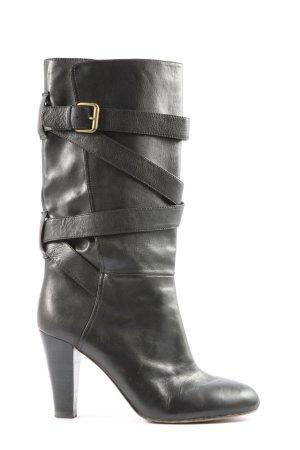 Massimo Dutti Absatz Stiefel schwarz Casual-Look