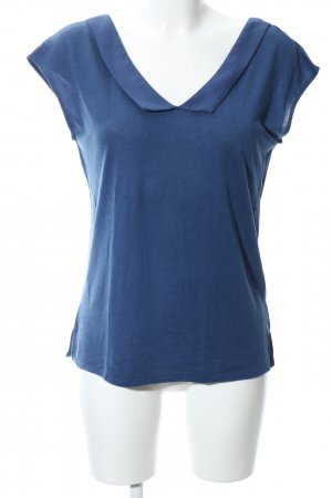 Massimo Dutti ärmellose Bluse blau Casual-Look