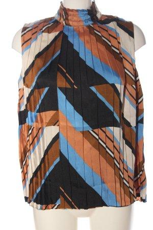 Massimo Dutti Sleeveless Blouse allover print casual look