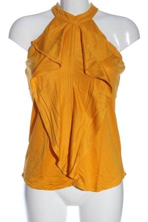 Massimo Dutti ärmellose Bluse hellorange Casual-Look