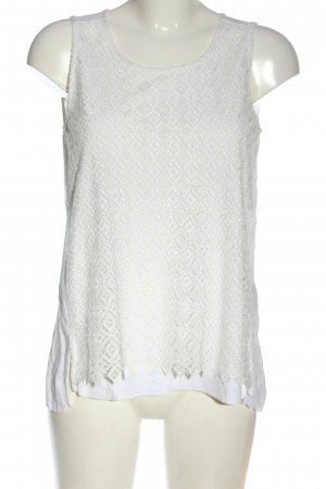 Massimo Dutti Kanten topje wit casual uitstraling