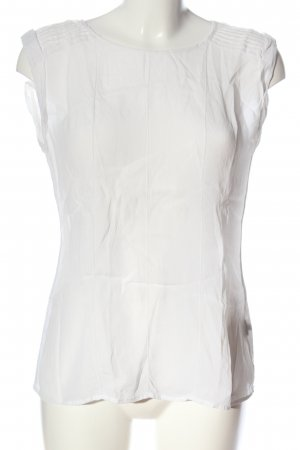 Massimo Dutti ärmellose Bluse weiß Casual-Look