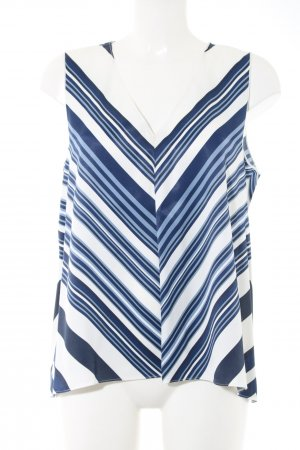 Massimo Dutti ärmellose Bluse blau-weiß Streifenmuster Casual-Look