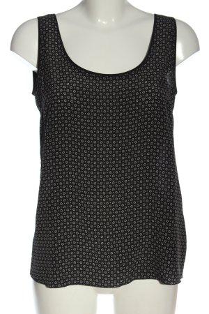 Massimo Dutti ärmellose Bluse schwarz-weiß Allover-Druck Casual-Look