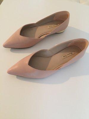 Massimo Dutti Ballerina's met kant roségoud