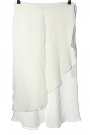 Massimo Dutti Asymmetry Skirt white striped pattern casual look