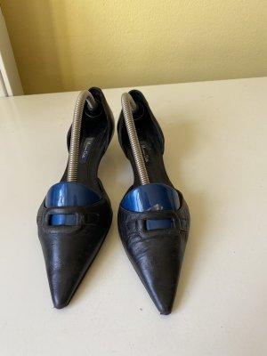 Massimo Dutti Slingback Ballerinas black
