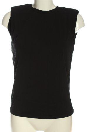 Massimo Dutti Basic-Shirt schwarz Casual-Look