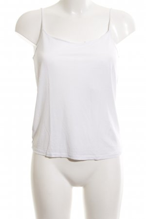 Massimo Dutti Basic Top weiß Casual-Look