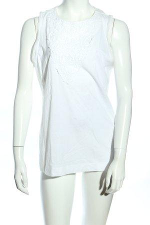 Massimo Dutti Top basic bianco stile casual
