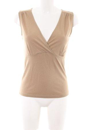 Massimo Dutti Basic Top nude Casual-Look