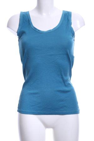 Massimo Dutti Basic Top blau Casual-Look