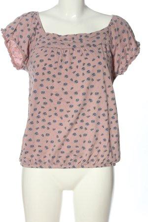 Massimo Dutti Batik shirt roze-blauw volledige print casual uitstraling