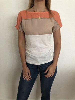 Massimo Dutti: besonderes Shirt mit Seiden- und Lederapplikationen