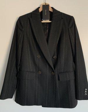 Massimo Dutti Tuxedo Blazer black-gold-colored