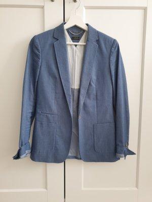 Massimo Dutti Blazer de esmoquin azul celeste-azul acero