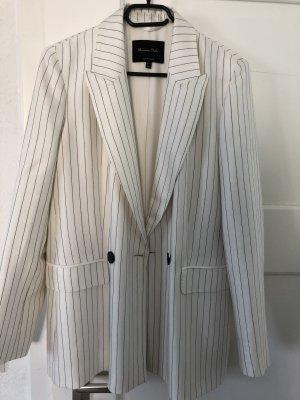 Massimo Dutti Blazer de esmoquin negro-blanco