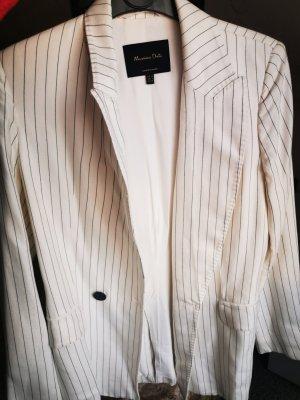 Massimo Dutti Blazer sweat blanc-noir