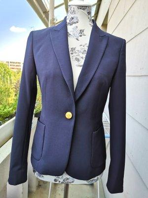 Massimo Dutti Wool Blazer dark blue