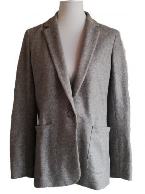 Massimo Dutti Blazer Longblazer Wolle Grau DE 38 / M