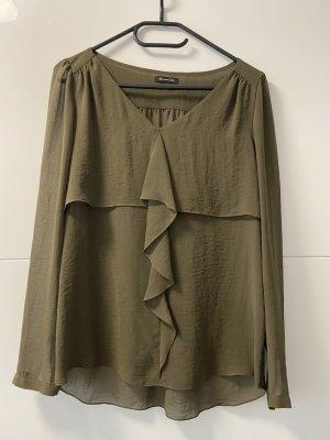 Massimo Dutti Empiècement de blouses vert olive