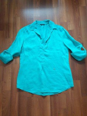 Massimo Dutti Lniana bluzka miętowy