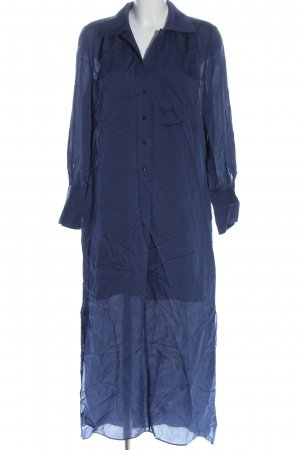 Massimo Dutti Vestido camisero azul look casual