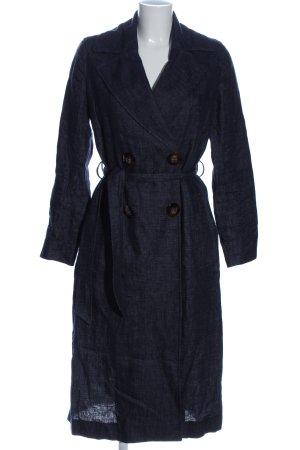 Massimo Dutti bodenlanger Mantel blau Casual-Look