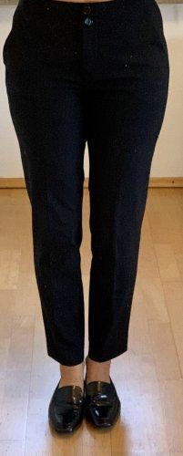 Massimo Dutti Bundfaltenhose dunkelblau Business-Look