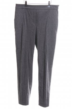Massimo Dutti Pleated Trousers light grey-white striped pattern business style