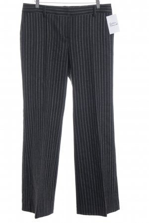 Massimo Dutti Bundfaltenhose schwarz-beige Streifenmuster Business-Look