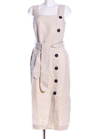 Massimo Dutti Cargo Dress natural white elegant