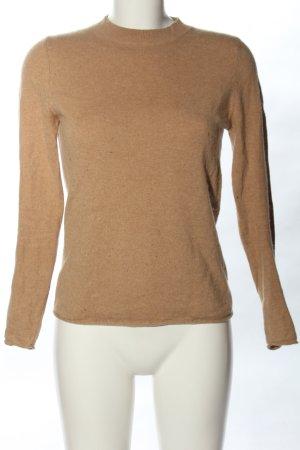 Massimo Dutti Kaszmirowy sweter brązowy W stylu casual
