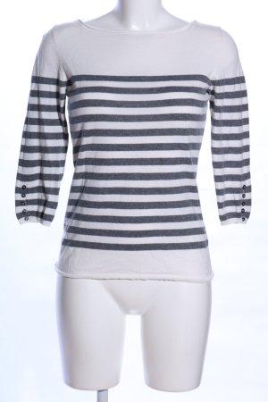 Massimo Dutti Kasjmier trui wit-zwart gestreept patroon casual uitstraling