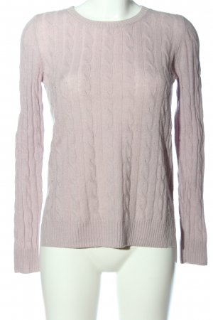 Massimo Dutti Cashmere Jumper pink allover print casual look