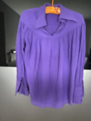 Massimo Dutti Transparent Blouse lilac