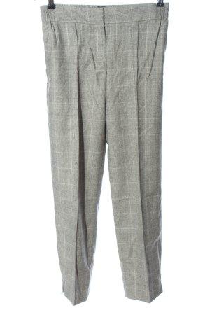 Massimo Dutti Chinos light grey check pattern business style