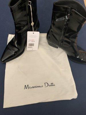 Massimo Dutti Cowboylederstiefeletten