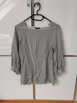 Massimo Dutti Camisa tipo Carmen blanco-negro