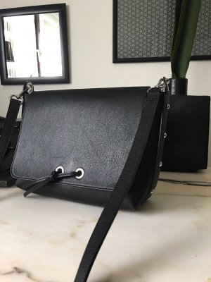 Massimo Dutti Damentasche schwarz Leder