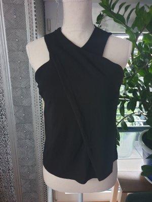 Massimo Dutti Wraparound Shirt black